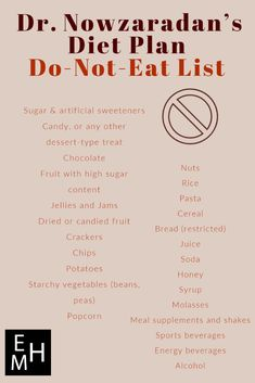 Nowzaradan's Diet Plan Do-Not-Eat List The list of foods prohibited on Dr. Now's diet Dr Nowzaradan, My Diet Plan, Diet Meal Plans, 1000 Calorie Meal Plan, Zero Calorie Foods, Gastric Sleeve Diet, Program Diet, Ibs Diet, Low Glycemic Diet