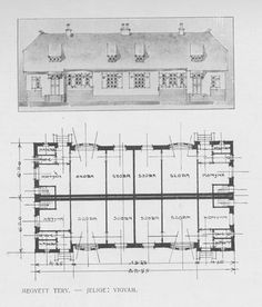 Bierbauer István és Tichtl György Family Homes, Home And Family, Single Family, Villas, House Plans, Floor Plans, Illustrations, How To Plan, Architecture