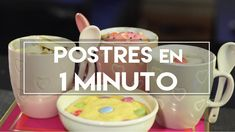Postres en 1 MINUTO! - DIY | What The Chic