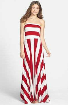 Elan Stripe Convertible Cover-Up Maxi Dress available at #Nordstrom