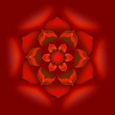 A mandala creation of mine, designed with Mandala Painter 3.