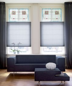 We share our top tips on how to introduce the hottest shade into your bedroom. Windows With Blinds, Window Blinds, Made To Measure Blinds, Grey Blinds, Sliding Wardrobe Doors, Color Of The Year, Blue Walls, Minimalist Design, Interior Inspiration