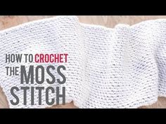 How To Crochet A Simple Mesh - YouTube