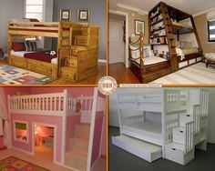 bunk bed inspiration! (which is your fav?) More at: http://diycozyhome.com/30-amazing-bunk-bed-ideas/