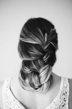 27. #Loose French #Braid - 43 Fancy #Braided Hairstyle Ideas from #Pinterest ... → Hair #Hairstyle start it on the side and tuck underneath