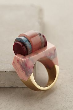 For a dash of art deco -  Mahlab Ring - anthropologie.com