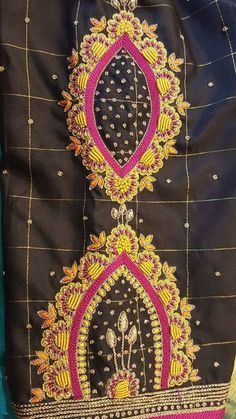 Cutwork Blouse Designs, Blouse Neck Designs, Sleeve Designs, Types Of Embroidery, Hand Embroidery, Embroidery Designs, South Indian Blouse Designs, Reception Sarees, Maggam Works