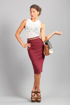 I would wear this to a networking luncheon full of fabulous women. I love everything about a great pencil skirt!