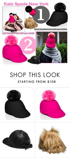 """""""I am a Wearer of Many Hats"""" by rivlyb ❤ liked on Polyvore featuring Kate Spade, Kevyn Aucoin, hats, katespade, fur, katespadeny and RivlysGifts"""