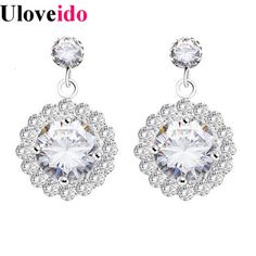Find More Stud Earrings Information about Earrings Female Silver Stones Earring Ear Piercing Falso Jewelry Fashion Princess Celestia Aretes De Piedras New Year JS2481,High Quality jewelry bear,China jewelry brads Suppliers, Cheap jewelry questions from Uloveido Official Store on Aliexpress.com