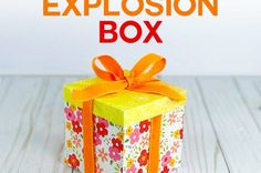 Make an Easy Explosion Box Card with this Tutorial and Free Template and SVG Cut File Craft Room Tables, Ikea Craft Room, Box Cards Tutorial, Card Tutorials, Scrapbook Organization, Craft Organization, Personalised Gifts Diy, How To Make Box, Paper Crafts
