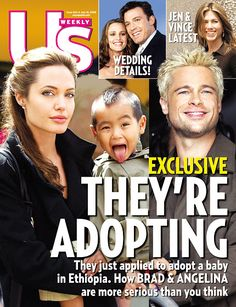 Magazine photos featuring Angelina Jolie on the cover. Angelina Jolie magazine cover photos, back issues and newstand editions. Brad And Angelina Jolie, List Of Magazines, Newspaper Cover, Jolie Pitt, Movie Couples, Cover Photos, How To Apply, Celebrities, Bridesmaids
