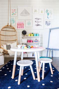 Kids room inspiration | Image via Ivory Lane | Riley Play Table