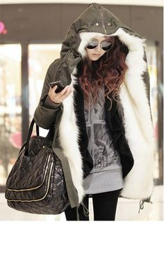 Lady Winter Jacket with High Quality Cotton Wool by StyleDresser, $196.00