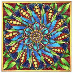 finished colored mandalas | August Mandala 4 Finished by Artwyrd.deviantart.com on @deviantART