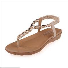 $25.96 (Buy here: https://alitems.com/g/1e8d114494ebda23ff8b16525dc3e8/?i=5&ulp=https%3A%2F%2Fwww.aliexpress.com%2Fitem%2F2016-New-Summer-Flat-Sandals-Ladies-Summer-Bohemia-Beach-Flip-Flops-Shoes-High-Quality-Flat-Sandals%2F32654466576.html ) 2016 New Summer Flat Sandals Ladies Summer Bohemia Beach Flip Flops Shoes High Quality Flat Sandals comfort Women Shoes for just $25.96