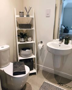 The post 28 Impressive Bathroom Storage Ideas Smart Solution Big Impact! appeared first on Badezimmer ideen. Small Bathroom Storage, Bathroom Organisation, Small Storage, Organization Ideas, Bathroom Ladder Shelf, Bathroom Storage Solutions, Toilet Storage, Kitchen Storage, Food Storage