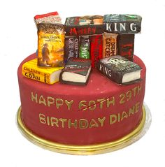 Stephan King Books Collection Cake