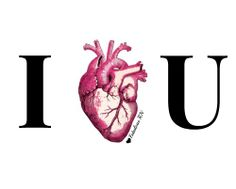 I heart u. Nurse humor. Nursing funny. Registered Nurses. RN. Valentine's Day. Nurse Valentines. Medical humor. Anatomical Heart Illustration. Fabulous RN.