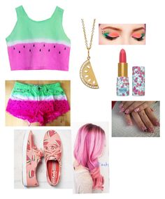 """""""Summer watermelon"""" by ryleerother ❤ liked on Polyvore featuring Keds, Sydney Evan and tarte"""