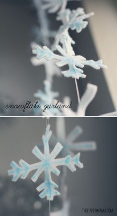 Day 48: Snowflake Garland (for Sandy Hook Elementary)