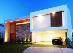 casa moderna azulzinho da parede