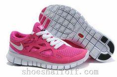 new product a1980 e1f1b Cheap Nike Free Run 2 Women s Running Shoes Pink Flash White