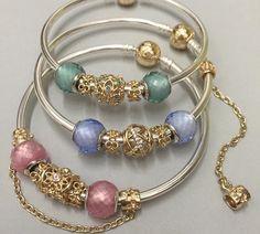 Pandora. Wow gorgeous Two tone bangles