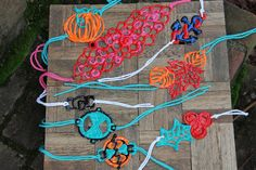 DIY puffy paint jewelry. This would be great for costumes.