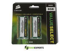 Corsair 8GB 2x4GB kit DDR3 1600MHZ CMSO8GX3M2A1600C11 SODIMM Laptop memory
