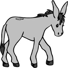 Cartoon Mule | Donkey With A Load clip art - vector clip art ...