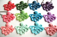 baby blue octopus necklace by chippednailpolish on Etsy, $10.00