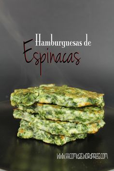 Hamburguesas de espinacas, receta Fit - Tap the pin if you love super heroes too! Cause guess what? you will LOVE these super hero fitness shirts! Veggie Recipes, Baby Food Recipes, Vegetarian Recipes, Cooking Recipes, Healthy Recipes, Spinach Burgers, Comida Diy, Healthy Snacks, Healthy Eating