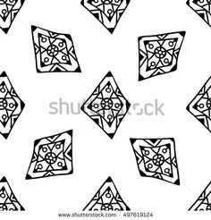 Black outlines of doodle beads on white. Seamless pattern for holiday invites, birthday cards, party decorations, gift and wrapping paper, fabrics, web page background.