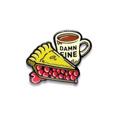 Loving enamel pins for my wallet. This Damn Fine Enamel Pin (Twin Peaks) is awesome.