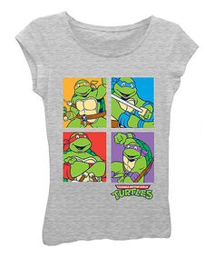 Loving this Heather Gray TMNT Tee - Girls on #zulily! #zulilyfinds