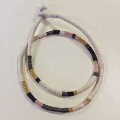 edward and lilly: Craft Lab Thread wrapped jewellery. Paper Piecing, Basket Weaving, Hand Sewing, Lab, Craft Projects, Paper Crafts, Jewellery, Personalized Items, Paper Scraps