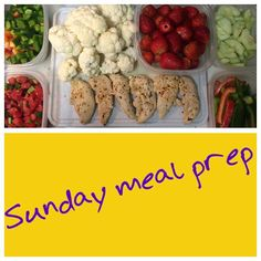Sunday meal prep done!! Saving time through the week and less apt to make poor choices!  #mealprepsunday #goodchoices #savingtime #cleaneating #fitgirl428fitness by cindifitgirl428