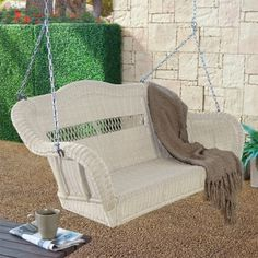 victorian porch glider porch swing almond cwr152 porch swings resin wicker porch - Wicker Porch Swing