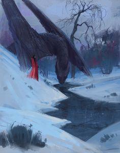 Dragon girl, Krist Miha on ArtStation at https://www.artstation.com/artwork/b84Ed