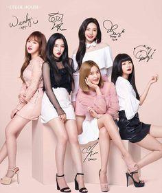 Red Velvet x Etude House Red Velvet Promotional Official Poster in Tube Kpop Girl Groups, Korean Girl Groups, Kpop Girls, Avon Products, Perfectly Posh, Etude House Lip Tint, Korean Lip Tint, Red Velvet Photoshoot, Red Velvet