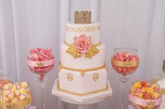 Pink & Gold Princess Party via Kara's Party Ideas | KarasPartyIdeas.com (11)