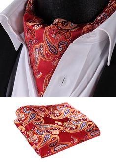 SetSense Men/'s Paisley Jacquard Woven Self Bow Tie Set One Size Gold//Brown