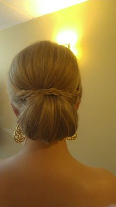 Bridesmaid Hair- updo w/ small braids