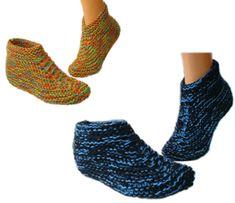 Free Patterns - 50 Slippers & Socks to Knit & Crochet