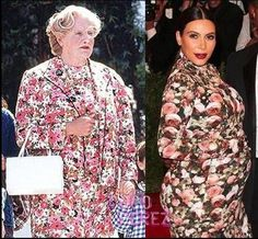 WHO WORE IT BEST: Robin Williams of Kim Kardashian