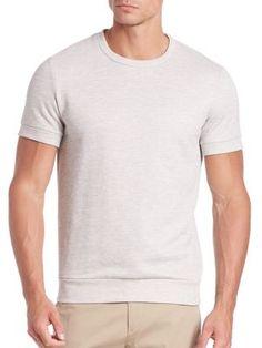 THEORY Danen Axis Terry Sweat Shirt. #theory #cloth #shirt