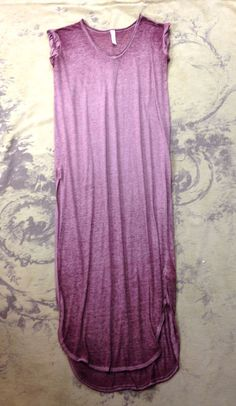Anthropologie Free People Beach Purple Tissue Thin T Shirt Maxi Long Dress S 4 6 | Clothing, Shoes & Accessories, Women's Clothing, Dresses | eBay!