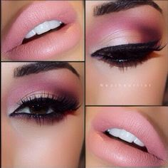 Love the pinks - Mulberry on the eyes & Vegan Lipstick