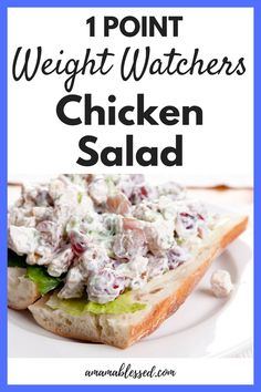 Are you searching for a yummy but light chicken salad recipe? Check out this Weight Watchers Freestyle chicken salad recipe. Only 1 Smartpoints for a serving! This easy and quick recipe is great for lunch or dinner and can be served many ways. Salade Weight Watchers, Poulet Weight Watchers, Weight Watchers Diet, Weight Watchers Meatloaf, Weight Watchers Lunches, Ww Recipes, Cooking Recipes, Healthy Recipes, Popular Recipes